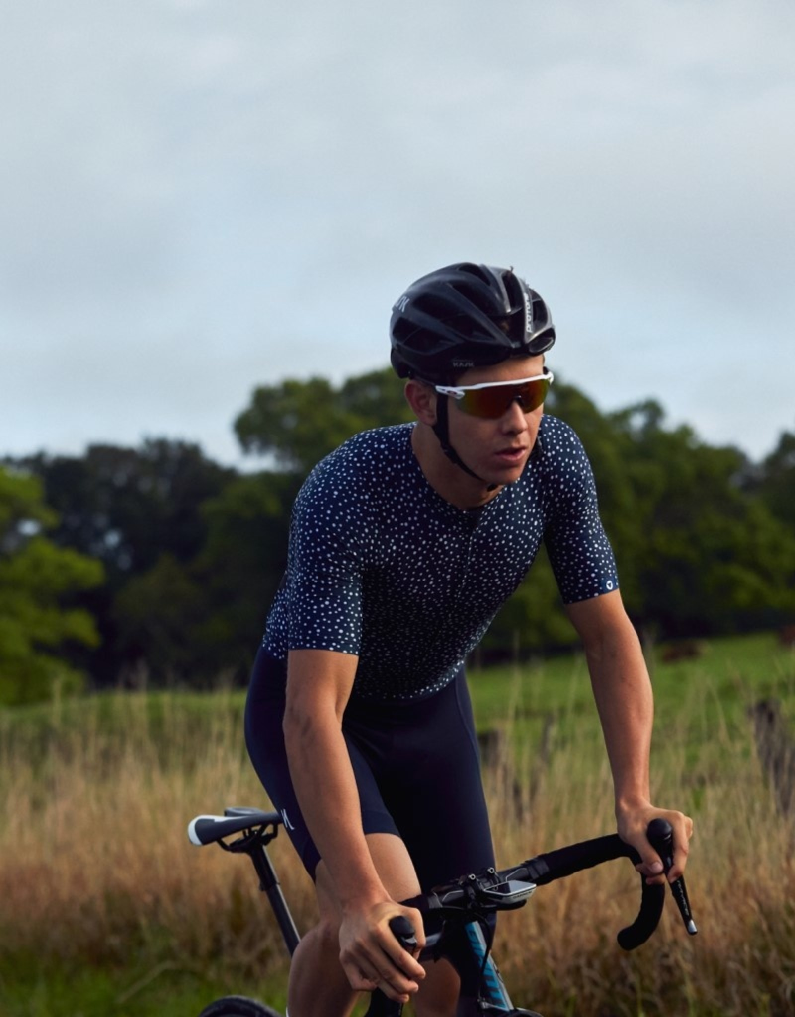 Black Sheep Cycling Men's Dot Jersey - Navy Blue