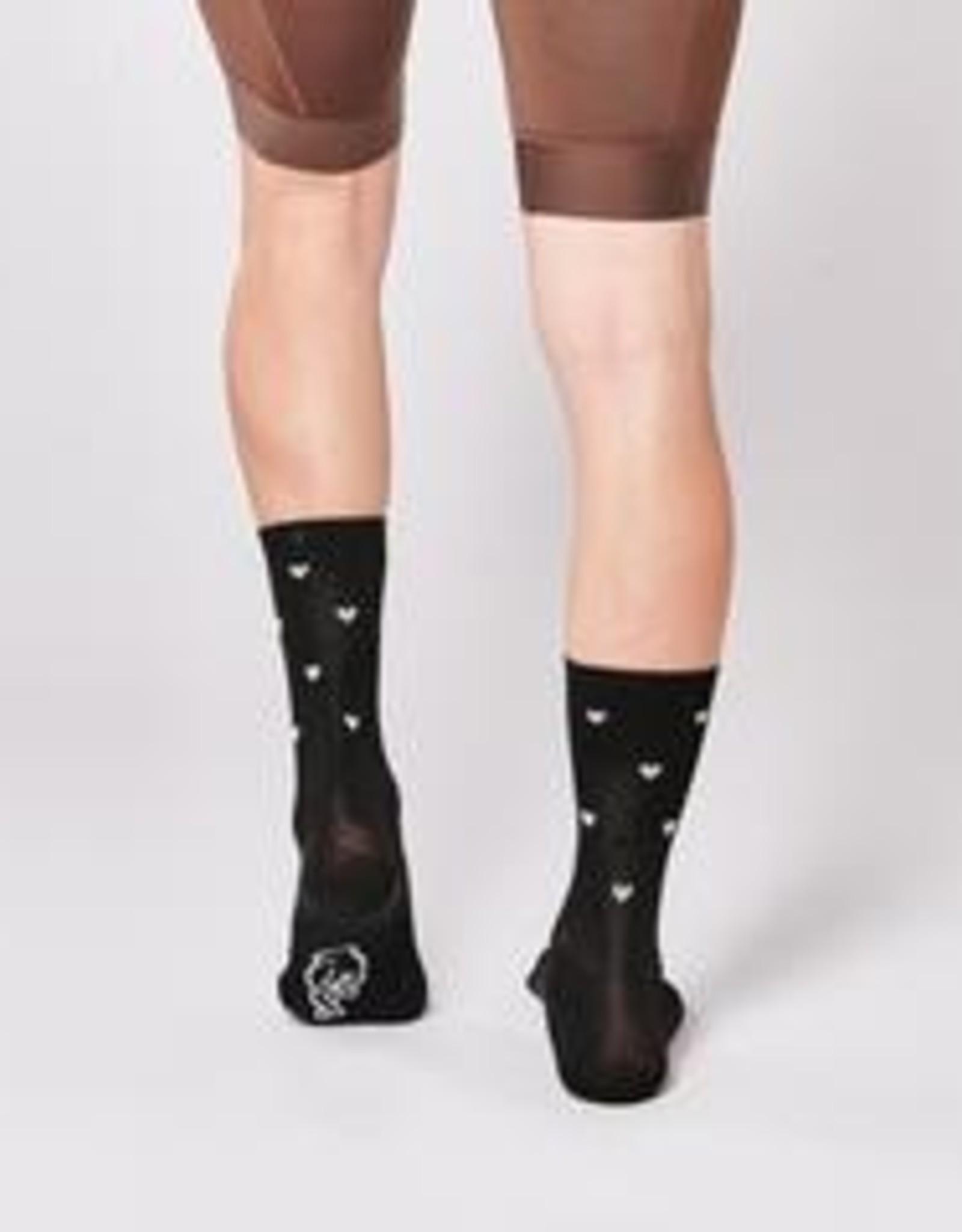 Fingerscrossed Cycling socks Classic Hearts Black  #09_07