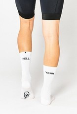 "Fingerscrossed Fietssokken ""Hell yeah"" collection 1.0 - Wit"