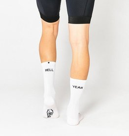 "Fingerscrossed Cycling socks ""Hell yeah"" 1.0 - White #666"