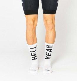 "Fingerscrossed Cycling socks ""Hell yeah"" 2.0 - White #666"