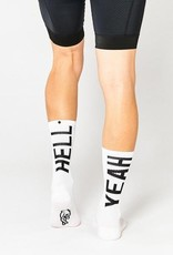"""Fingerscrossed Cycling socks """"Hell yeah"""" collection 2.0 - White #666"""