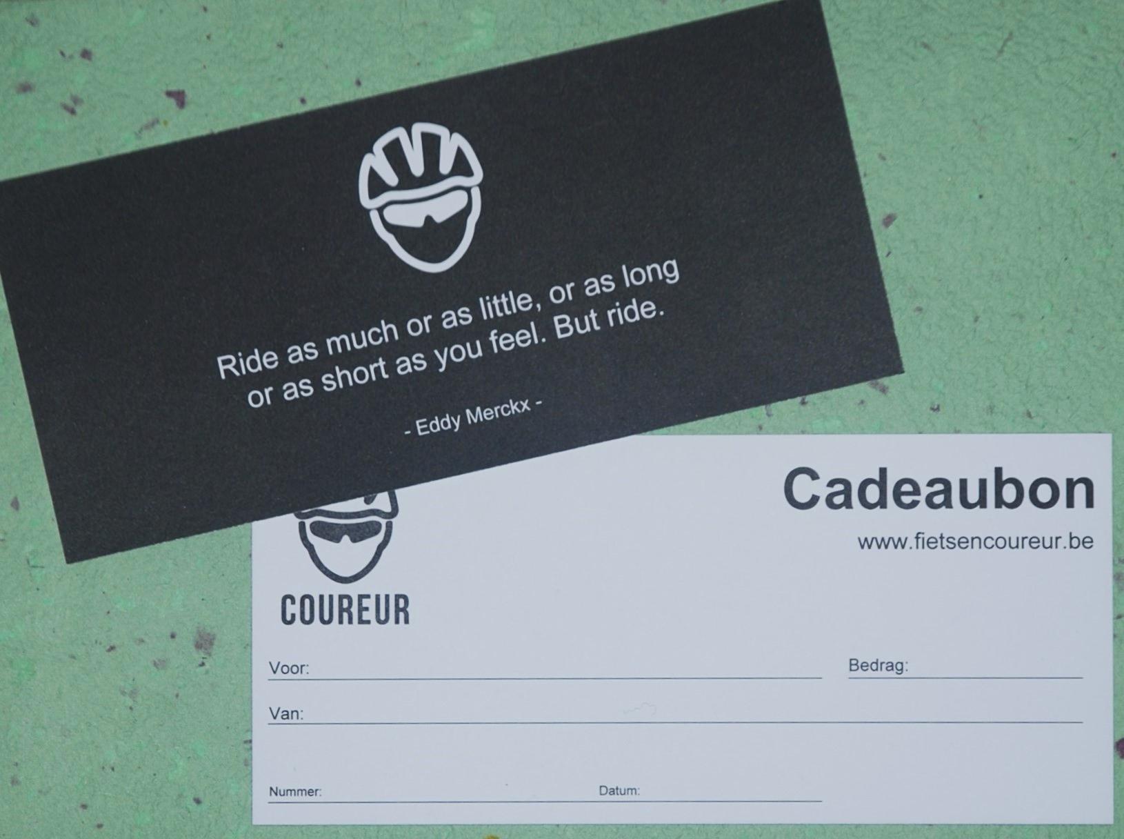 Cadeaubon Coureur het beste cadeau voor een fietser