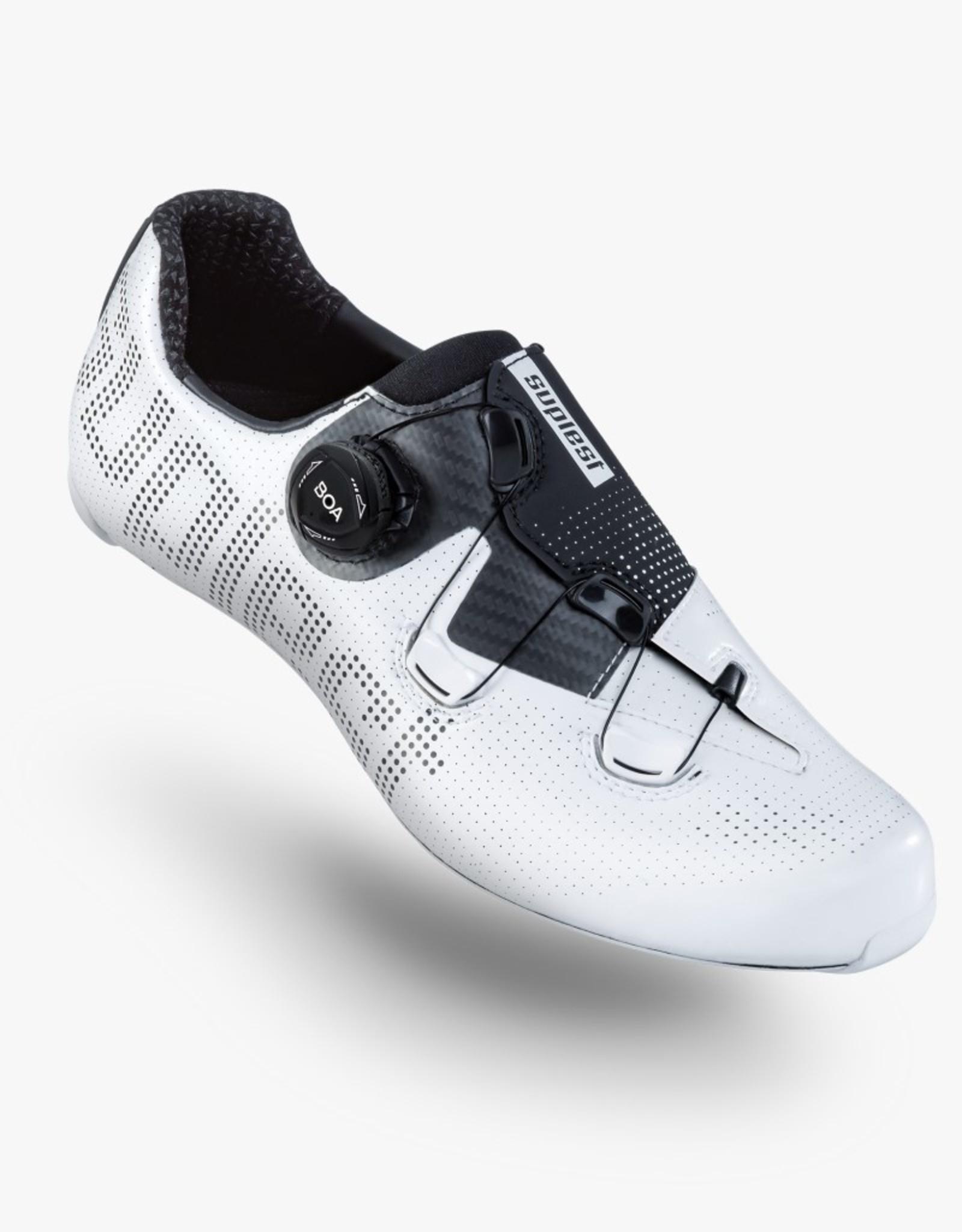 Suplest Fietsschoenen EDGE+ Road Performance - white/black