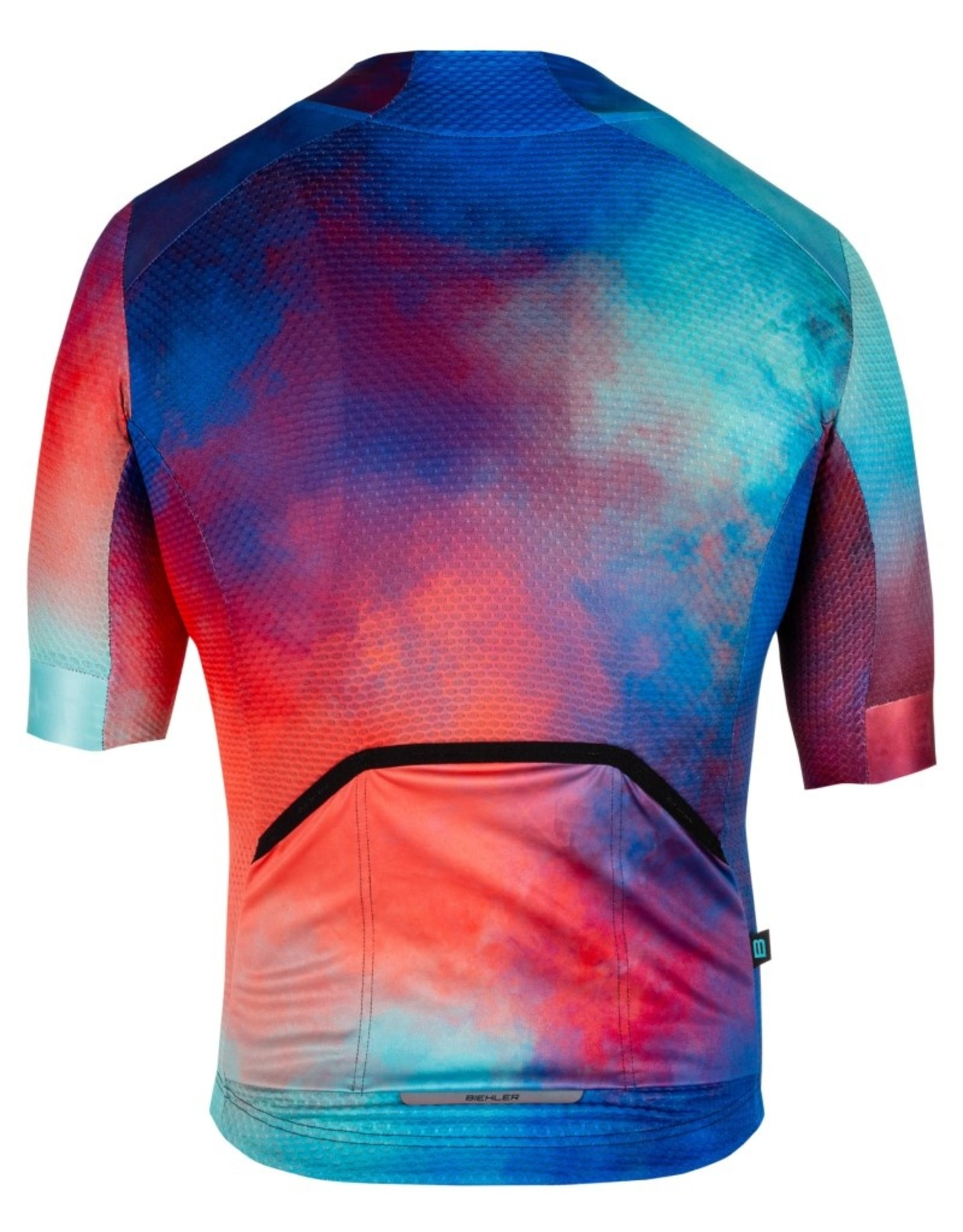"""Biehler Technical Cycling Jersey with short sleeves """"Radical Splash"""""""