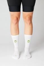 Fingerscrossed Smiley - white / neon