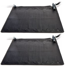 Intex Verwarmingsmat op zonne-energie 2 st 1,2x1,2 m PVC zwart 28685