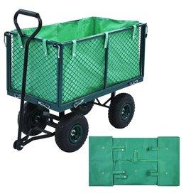 vidaXL Tuinwagenvoering stof groen