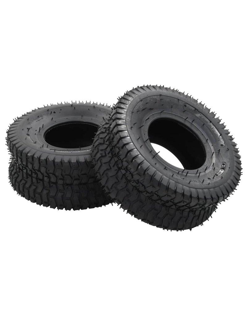 vidaXL 4-delige Kruiwagenband- en binnenbandset 15x6.00-6 4PR rubber
