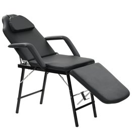 vidaXL Gezichtsbehandelingsstoel 185x78x76 cm kunstleer zwart