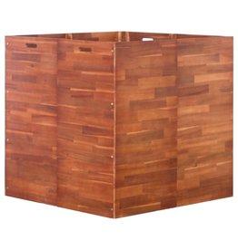 vidaXL Plantenbak verhoogd 100x100x100 cm acaciahout