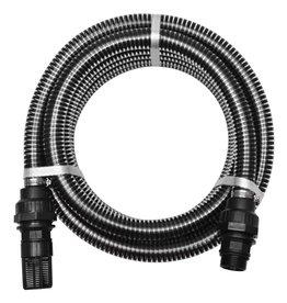 vidaXL Zuigslang met koppelingen 7 m 22 mm zwart