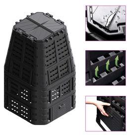 vidaXL Compostbak 880 L 93,3x93,3x146 cm zwart