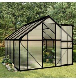 vidaXL Broeikas 4,75 m² aluminium antraciet