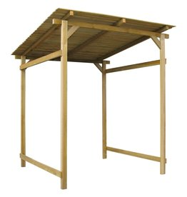 vidaXL Overkapping 170x170x180 cm geïmpregneerd grenenhout