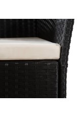 vidaXL 5-delige Tuinset poly rattan zwart en bruin