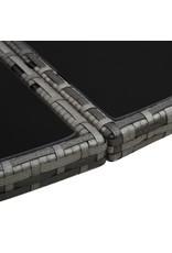 vidaXL 7-delige Tuinset met kussens poly rattan grijs