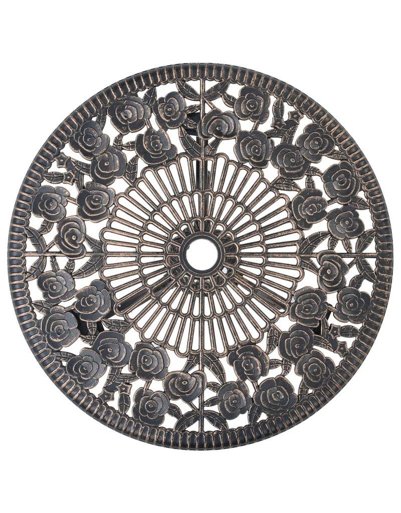 vidaXL 3-delige Bistroset gegoten aluminium