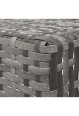 vidaXL 5-delige Tuinset inklapbaar poly rattan grijs