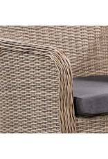 vidaXL 7-delige Tuinset met kussens poly rattan bruin