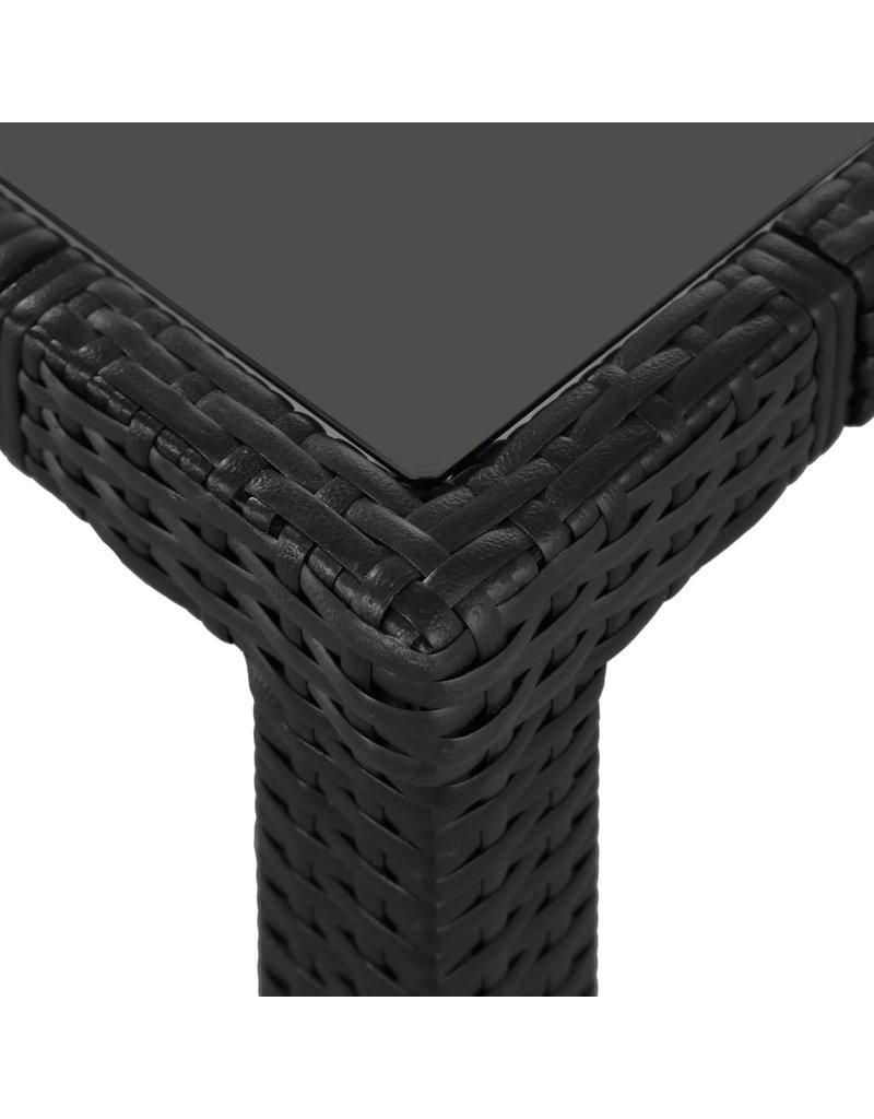 vidaXL 7-delige Tuinset poly rattan zwart