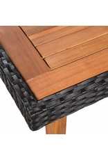 vidaXL 7-delige Tuinset poly rattan zwart en bruin