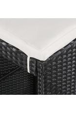 vidaXL 5-delige Tuinbarset poly rattan en glas