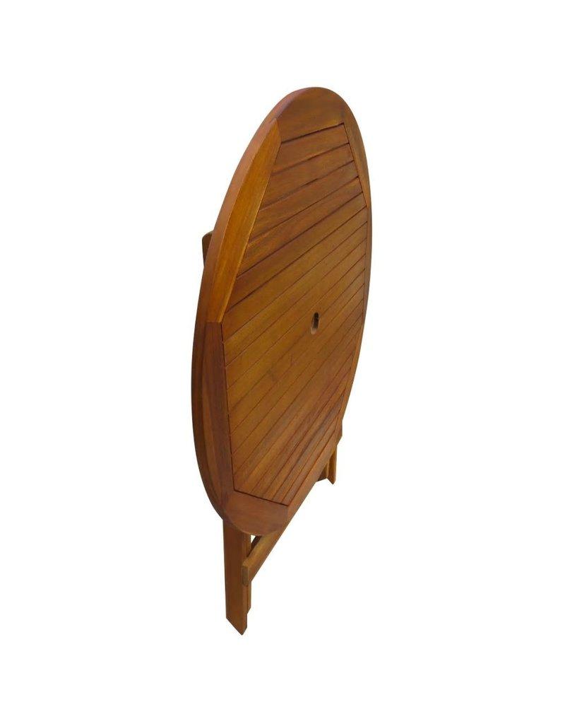 vidaXL 5-delige Tuinset inklapbaar massief acaciahout