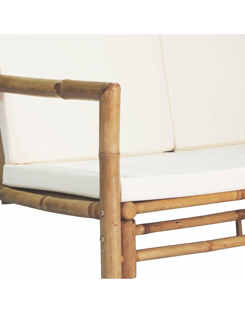 vidaXL 4-delige Loungeset met kussens bamboe