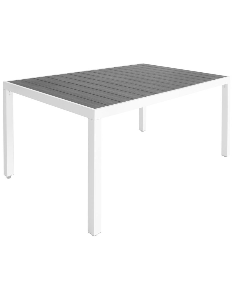 vidaXL 7-delige Tuinset met HKC tafelblad aluminium zwart