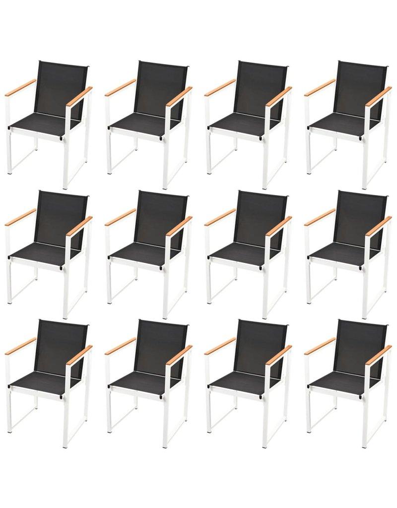 vidaXL 13-delige Tuinset met HKC tafelblad aluminium