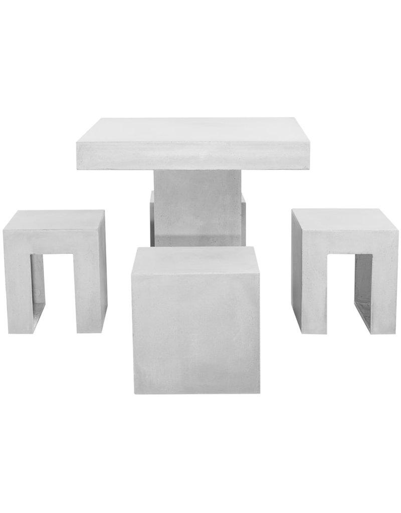 vidaXL 5-delige Tuinset beton