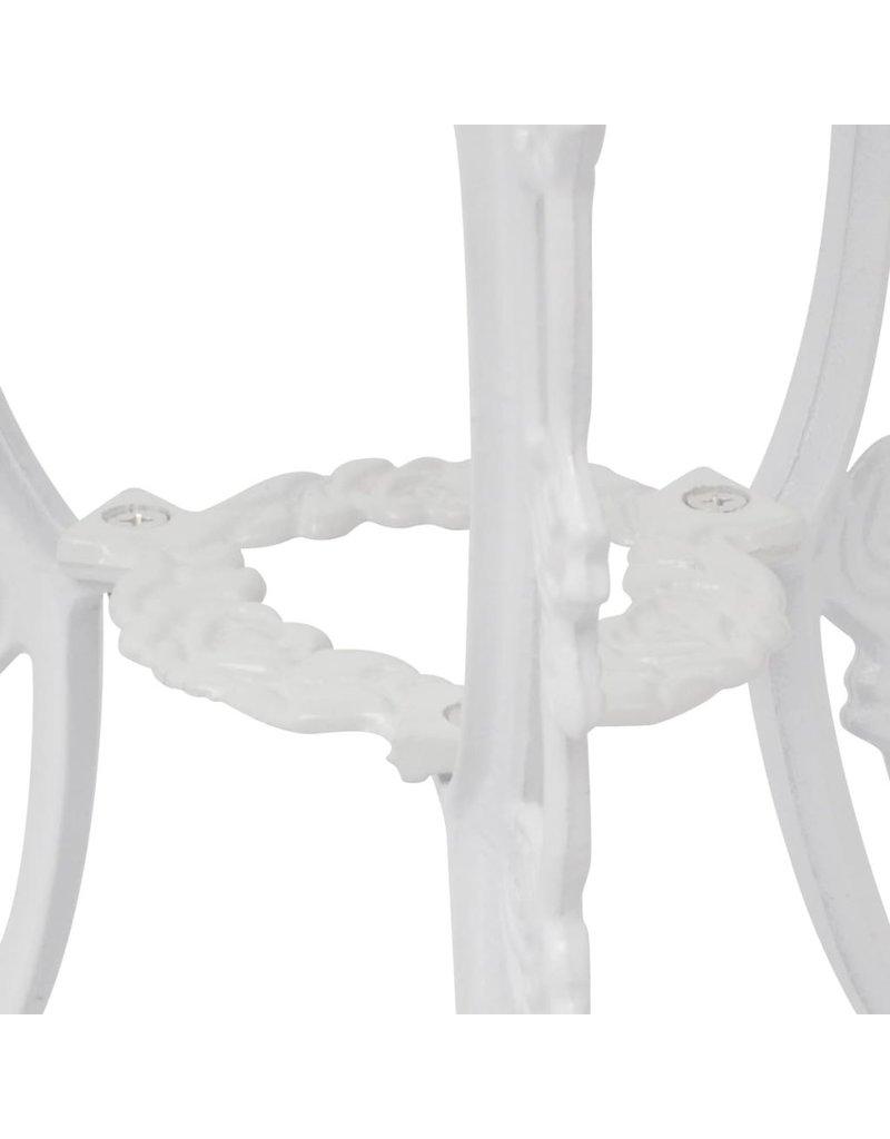 vidaXL 3-delige Bistroset gegoten aluminium wit
