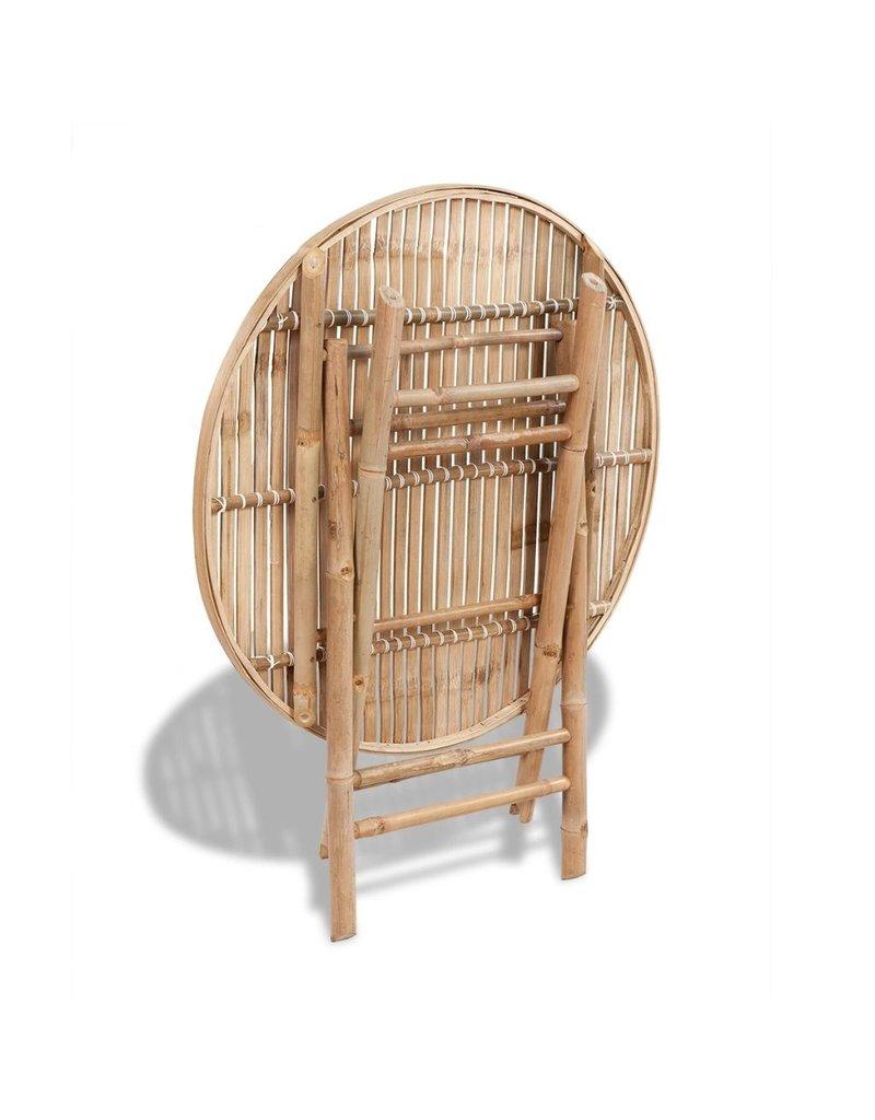 vidaXL 5-delige Tuinset inklapbaar bamboe