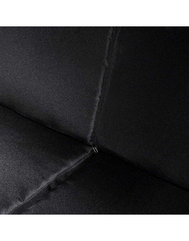 vidaXL 8-delige Loungeset met kussens poly rattan wit