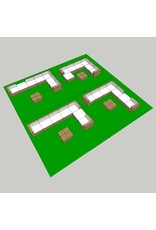 vidaXL 8-delige Loungeset met kussens poly rattan bruin