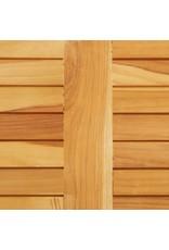 vidaXL 7-delige Barset massief teakhout en roestvrij staal