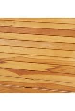 vidaXL 5-delige Barset massief teakhout en roestvrij staal
