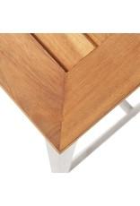 vidaXL 7-delige Barset massief acaciahout en roestvrij staal