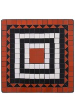vidaXL 3-delige Bistroset mozaïek keramische tegel terracotta en wit