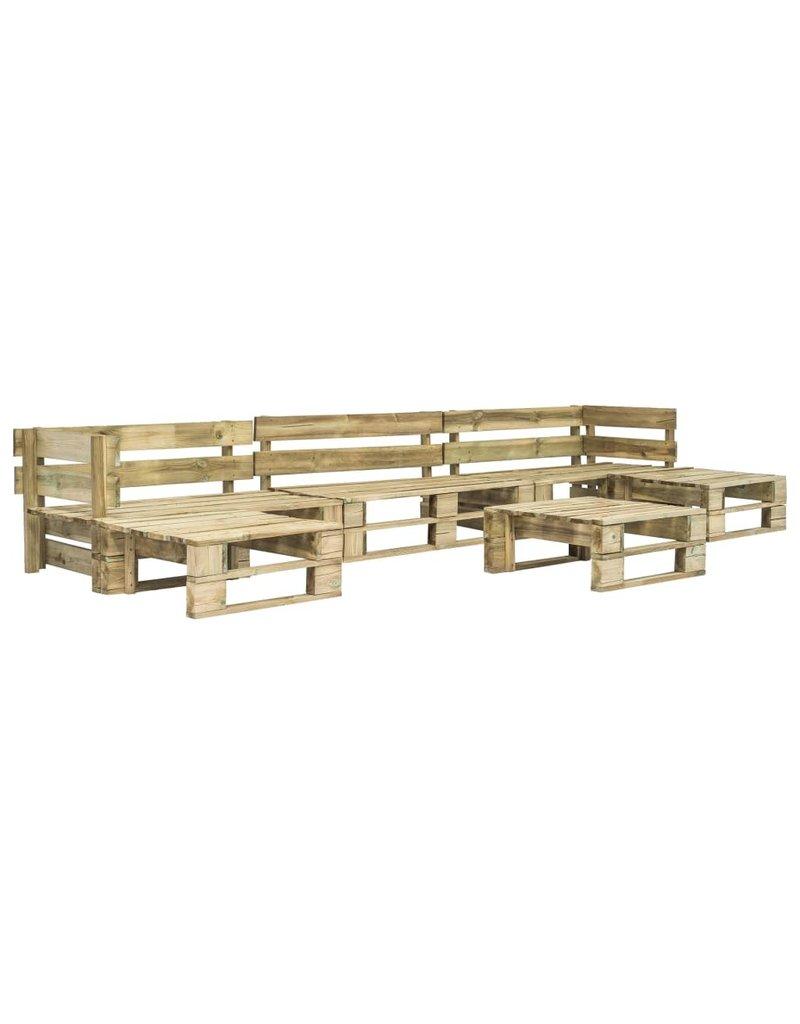 vidaXL 6-delige Loungeset pallet hout