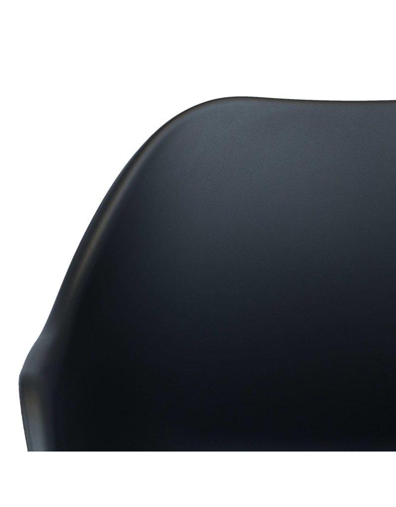 vidaXL 3-delige Bistroset kunststof antraciet