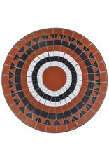vidaXL 3-delige Bistroset keramische tegel terracotta en wit