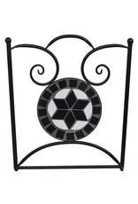 vidaXL 3-delige Bistroset keramische tegel zwart en wit