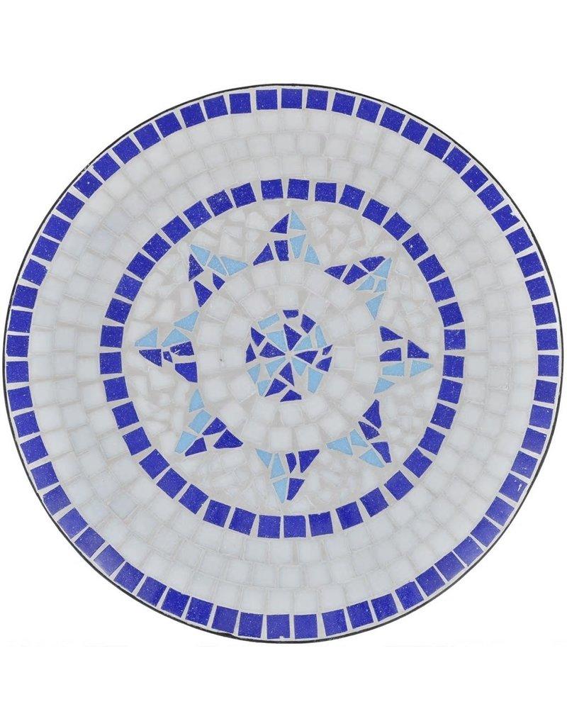 vidaXL 3-delige Bistroset keramische tegel blauw en wit