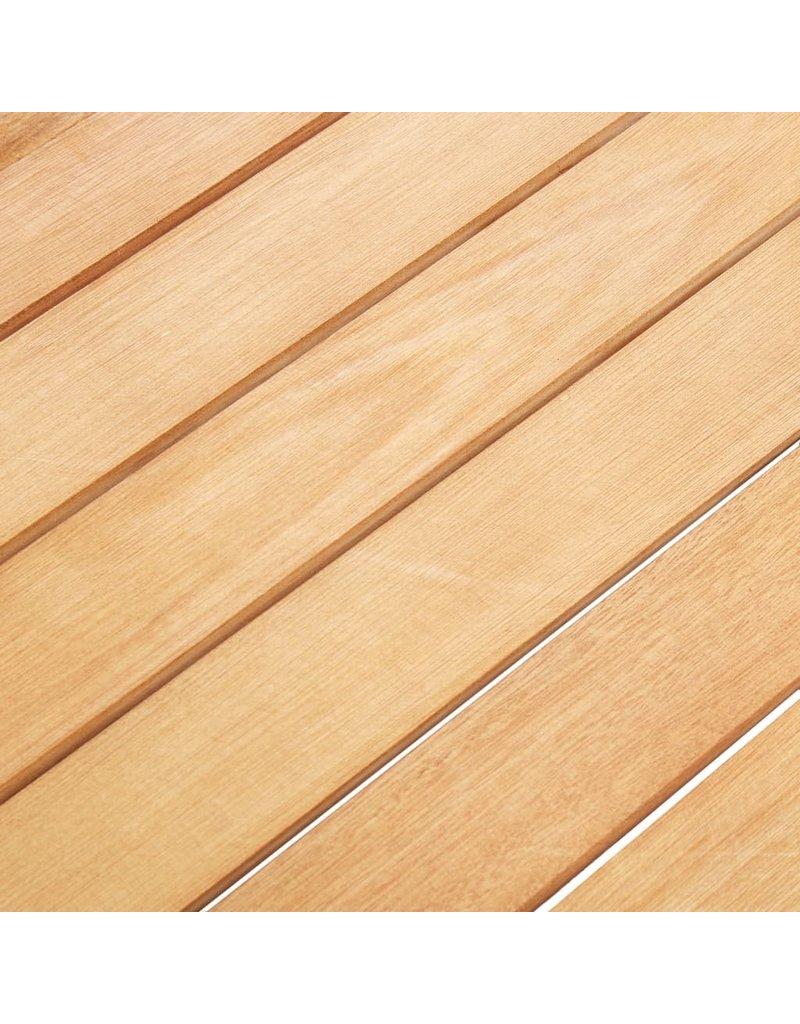 vidaXL 7-delige Tuinset poly rattan en acaciahout grijs