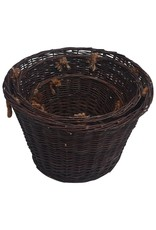 vidaXL 3-delige Houtmandenset stapelbaar wilgenhout donkerbruin