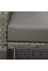 vidaXL 13-delige Tuinset met kussens poly rattan antraciet