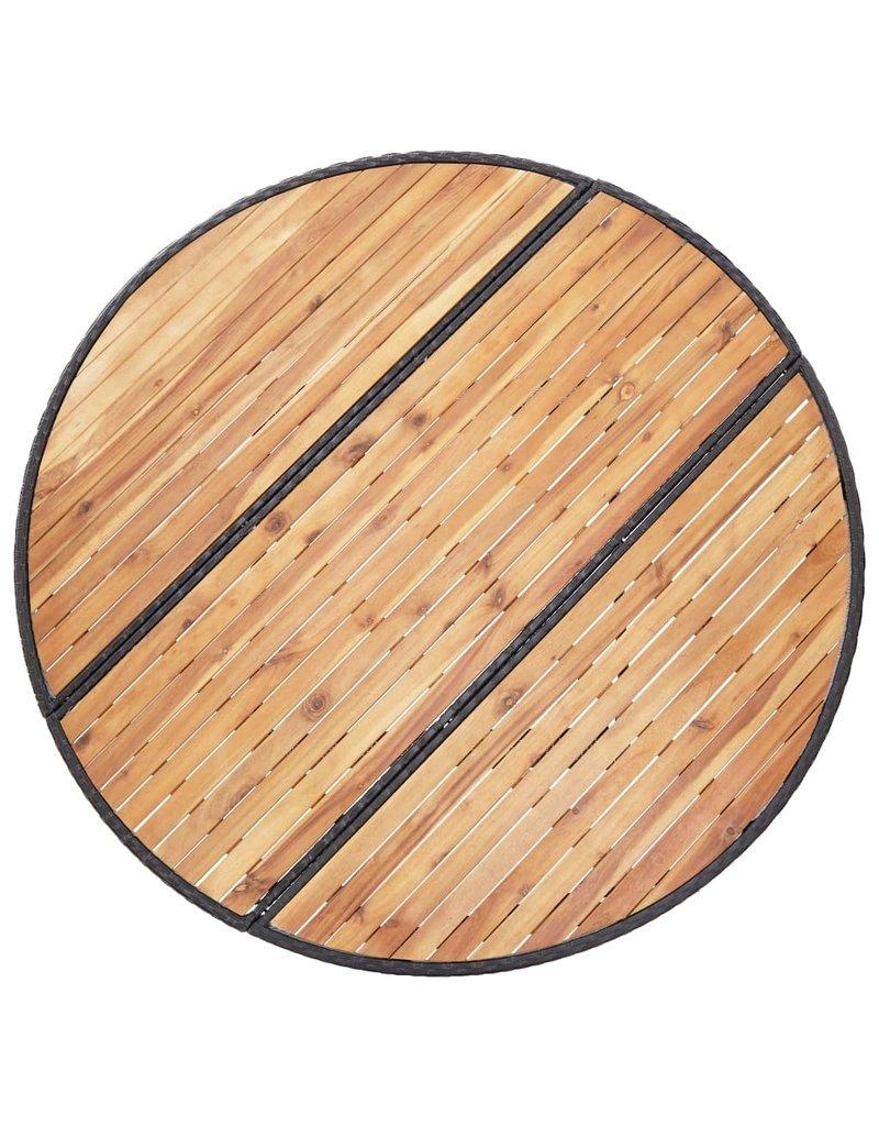 vidaXL 7-delige Tuinset poly rattan acaciahout zwart
