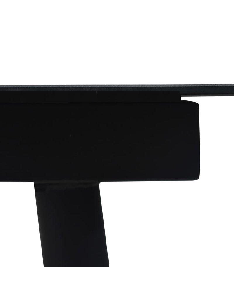 vidaXL 7-delige Tuinset katoenen touw en staal zwart